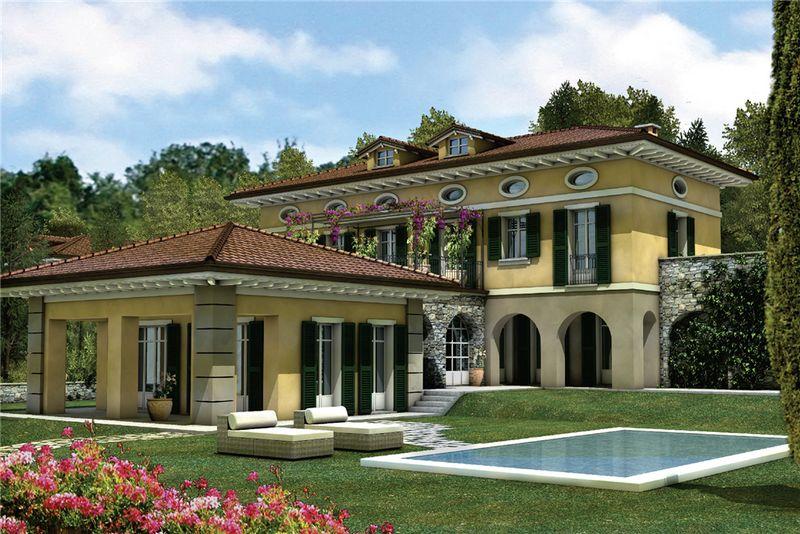 Villa verbania pallanza network immobiliare lago maggiore for Ville con portico in legno
